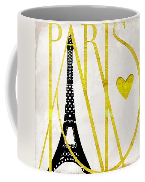 Paris Coffee Mug featuring the painting I Love Paris by Mindy Sommers