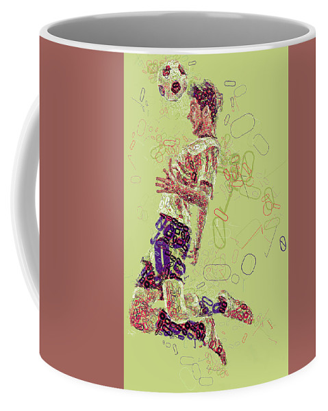 Soccer Coffee Mug featuring the digital art I Love Soccer by Slaway Tok