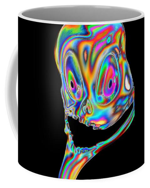 Digital Coffee Mug featuring the digital art I Need To Think by Steven Scanlon