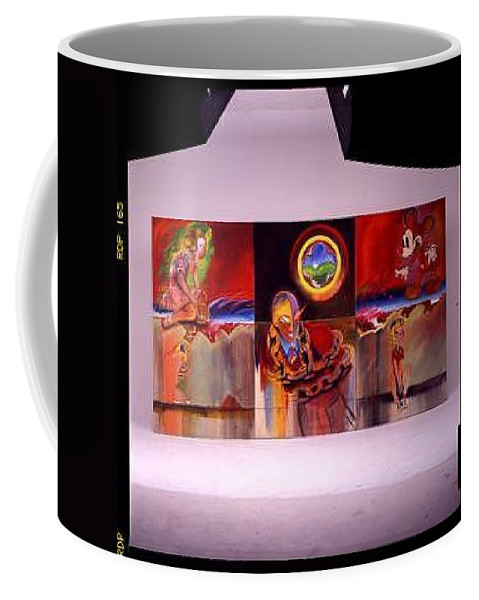 Spiderman Coffee Mug featuring the painting I Saw The Figure Five In Gold by Charles Stuart