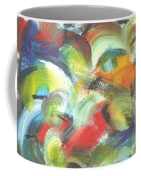 Birds Coffee Mug featuring the painting I See Birds by Myrtle Joy