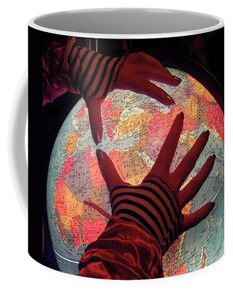 Globe Coffee Mug featuring the photograph I See Travel In Your Future by Venetia Featherstone-Witty