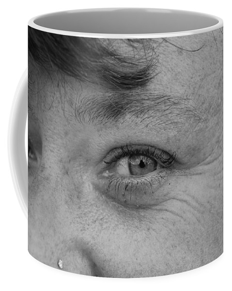 Black And White Coffee Mug featuring the photograph I See You by Rob Hans