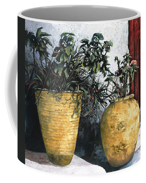 Vases Coffee Mug featuring the painting I Vasi by Guido Borelli