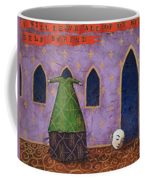 Surreal Coffee Mug featuring the painting I Will Leave All Of My Bitter Self Behind by Pauline Lim