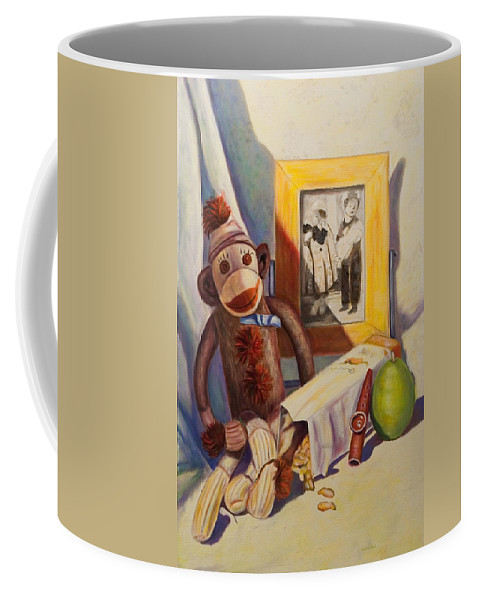 Children Coffee Mug featuring the painting I Will Remember You by Shannon Grissom