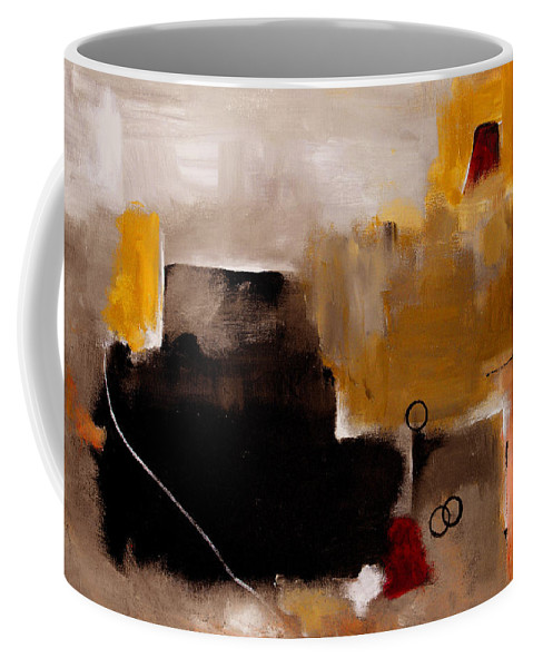 Abstract Coffee Mug featuring the painting I Wonder by Ruth Palmer