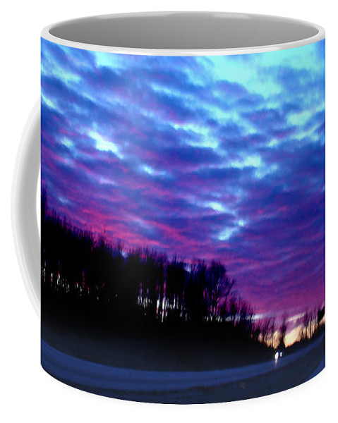 Landscape Coffee Mug featuring the photograph I70 West Ohio by Steve Karol
