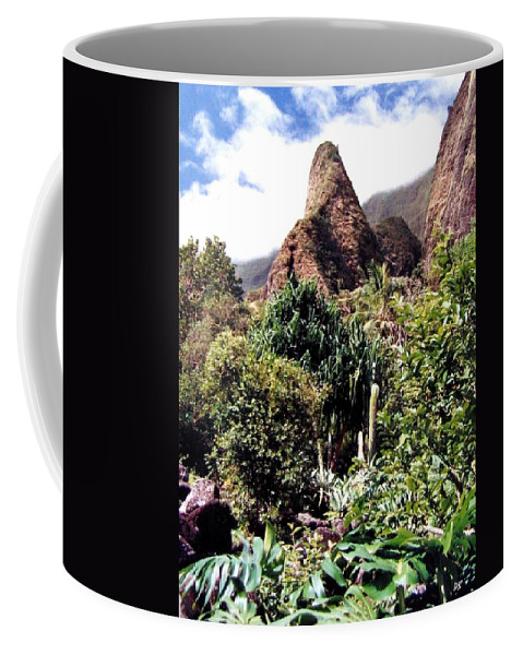 1986 Coffee Mug featuring the photograph Iao Needle by Will Borden