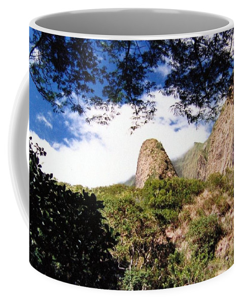 1986 Coffee Mug featuring the photograph Iao Valley by Will Borden