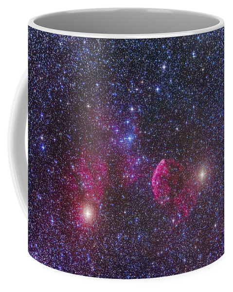 Collinder 89 Coffee Mug featuring the photograph Ic 443 Supernova Remnant In Gemini by Alan Dyer