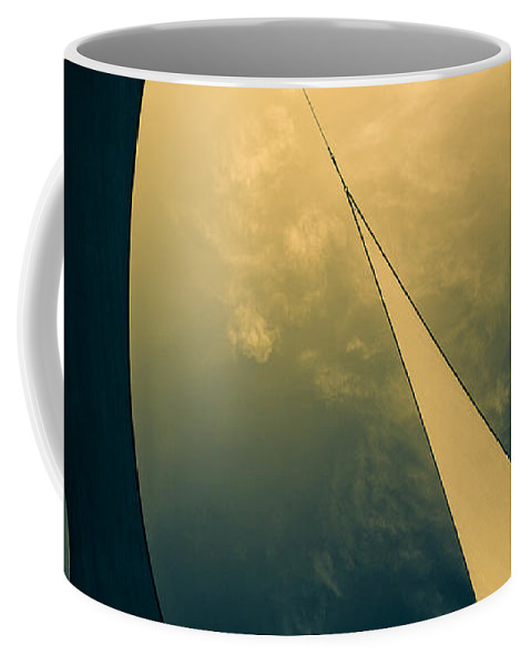 Abstract Coffee Mug featuring the photograph Icarus Journey To The Sun by Bob Orsillo