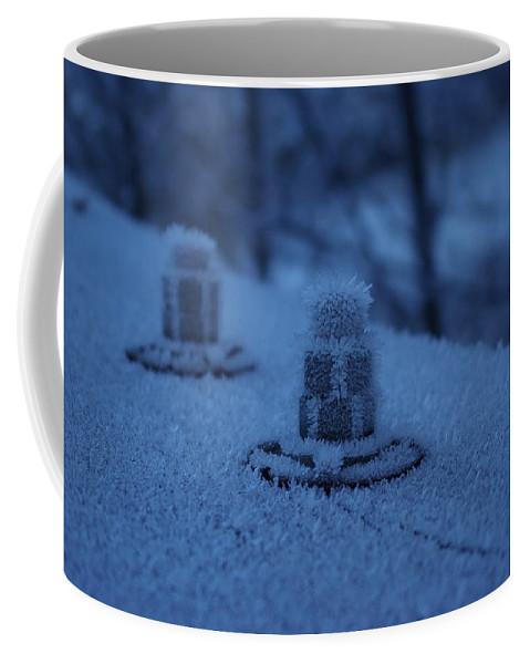 Ice Coffee Mug featuring the photograph Ice Bolts by Cindy Johnston