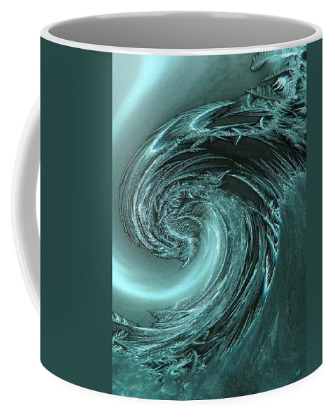 Frost Coffee Mug featuring the digital art Ice Breaker by Will Borden