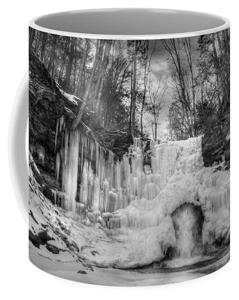 Waterfall Coffee Mug featuring the photograph Ice Castle by Lori Deiter