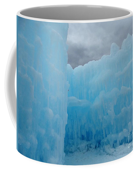 Ice Castles Coffee Mug featuring the photograph Ice Castles In Lincoln New Hampshire -1 by Gina Sullivan