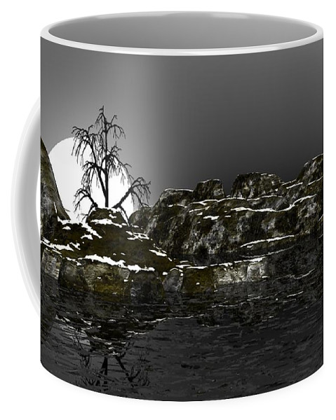 Fine Art Coffee Mug featuring the digital art Ice Cold by David Lane