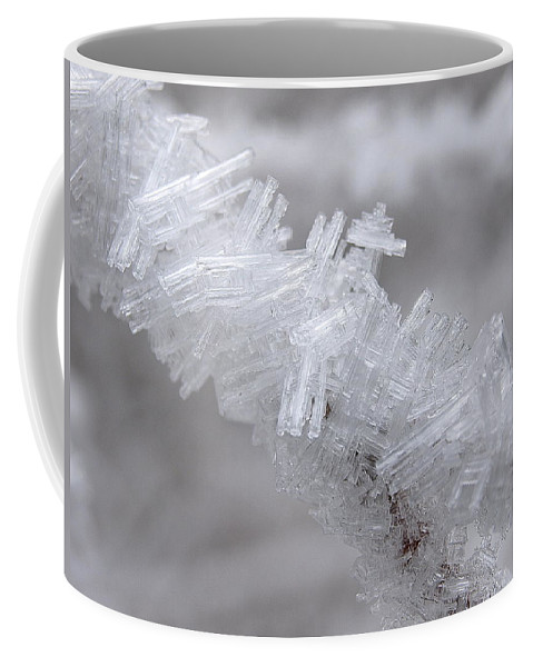 Winter Coffee Mug featuring the photograph Ice Crystals by DeeLon Merritt