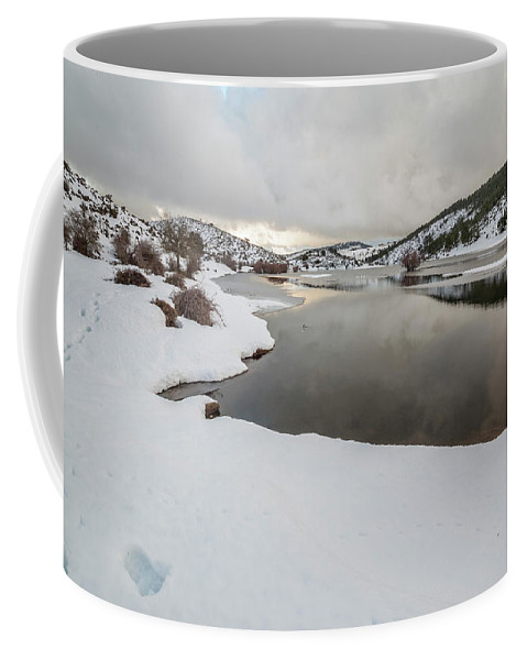 Scenery Coffee Mug featuring the photograph Ice In The River by Daniele Fanni