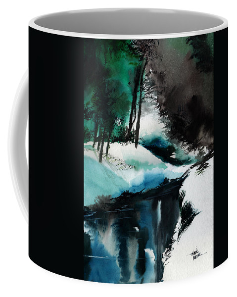 Snow Coffee Mug featuring the painting Ice Land by Anil Nene