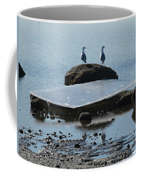 Ocean Coffee Mug featuring the photograph Ice Monolith by Bruce Gannon