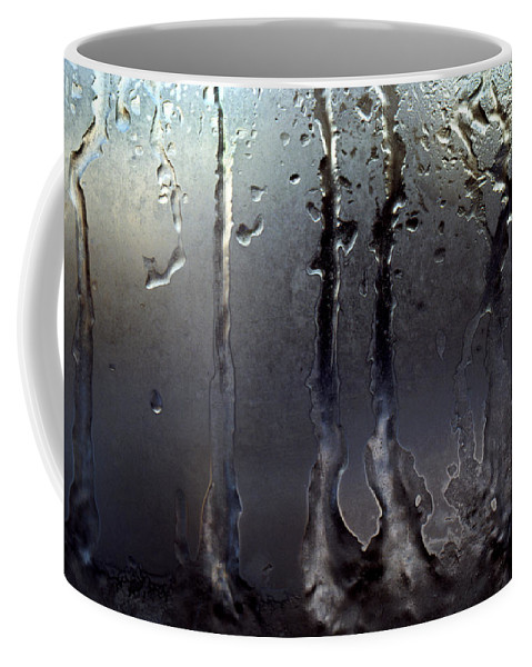 Macrophotography Coffee Mug featuring the photograph Ice On Window 3 by Lee Santa