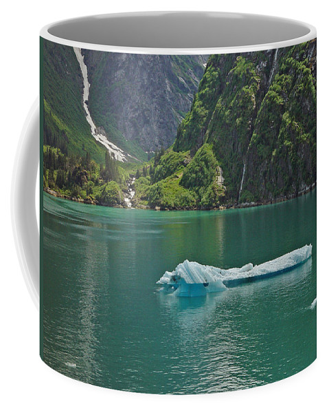Iceburg Coffee Mug featuring the photograph Ice Tracy Arm Alaska by Heather Coen