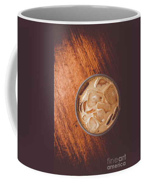 Drink Coffee Mug featuring the photograph Iced Coffee Beverage On Copy Space by Jorgo Photography - Wall Art Gallery