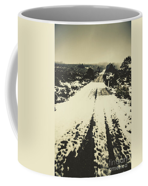 Winter Coffee Mug featuring the photograph Iced Over Road by Jorgo Photography - Wall Art Gallery