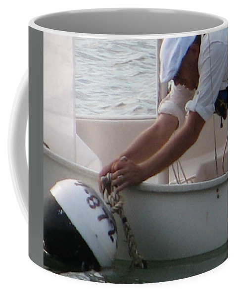 Sailboat Coffee Mug featuring the photograph Icey Fingers by Kelly Mezzapelle