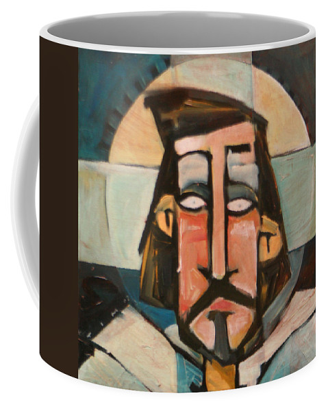 Christ Coffee Mug featuring the painting Icon Number 1 by Tim Nyberg