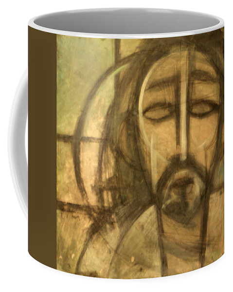 Christ Coffee Mug featuring the painting Icon Number 6 by Tim Nyberg