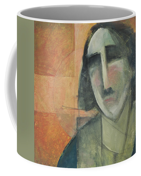 Christ Coffee Mug featuring the painting Icon Number Five by Tim Nyberg