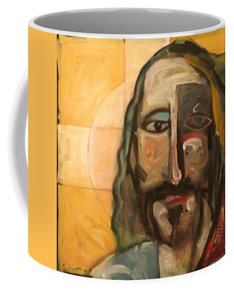 Christ Coffee Mug featuring the painting Icon Number Four by Tim Nyberg