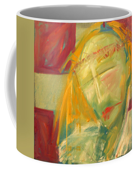 Christ Coffee Mug featuring the greeting card Icon Number Ten by Tim Nyberg
