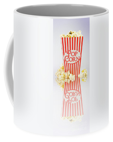 Alternating Coffee Mug featuring the photograph Iconic Striped Popcorn Carton by Jorgo Photography - Wall Art Gallery