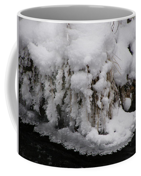 Snow Coffee Mug featuring the photograph Icy Bank by DeeLon Merritt