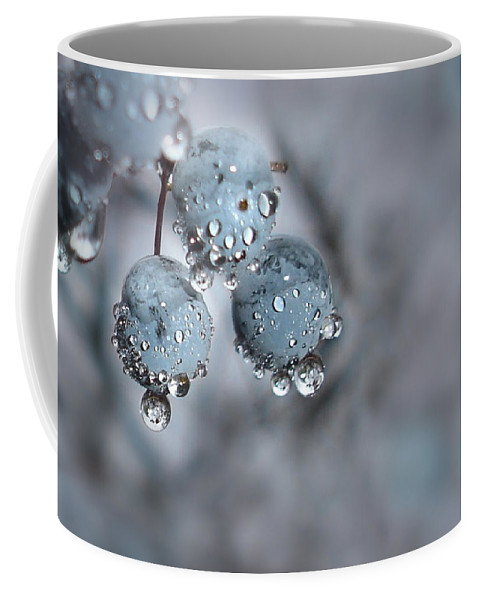 Icy Blue Berries Coffee Mug featuring the photograph Icy Blue Berries by Lori Deiter