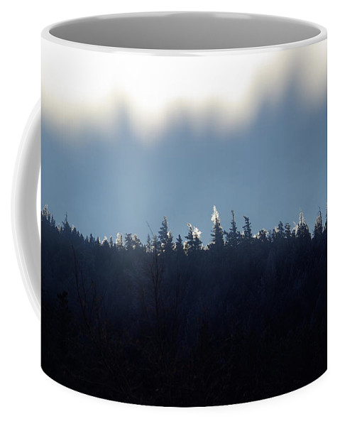 Ice Coffee Mug featuring the photograph Icy Sunrise by Cindy Johnston