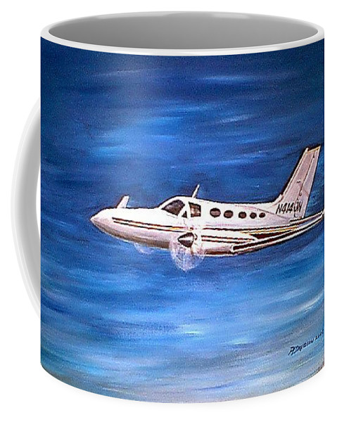 Planes Coffee Mug featuring the painting I'd Rather Be Flying by Patricia L Davidson