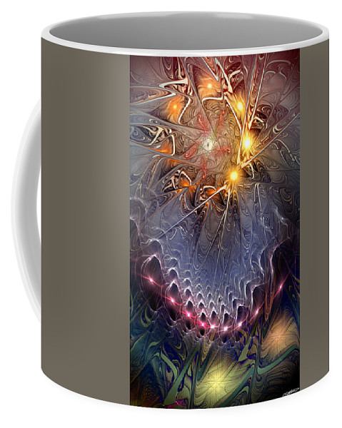 Abstract Coffee Mug featuring the digital art Ideological Subterfuge by Casey Kotas