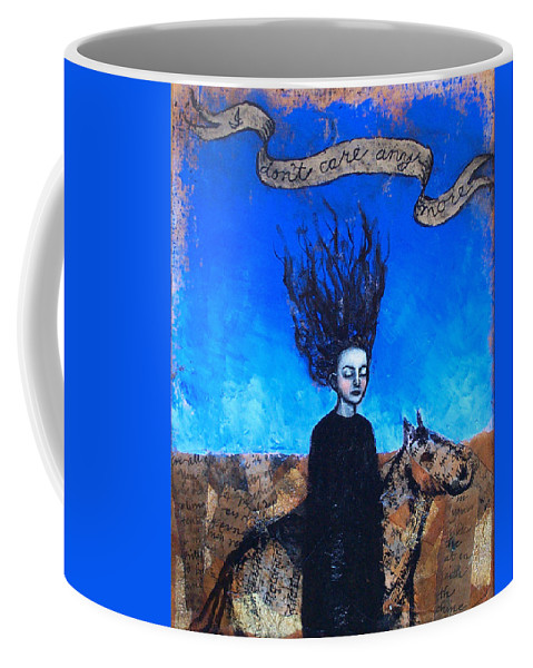 Coffee Mug featuring the painting Idontcareanymore by Pauline Lim