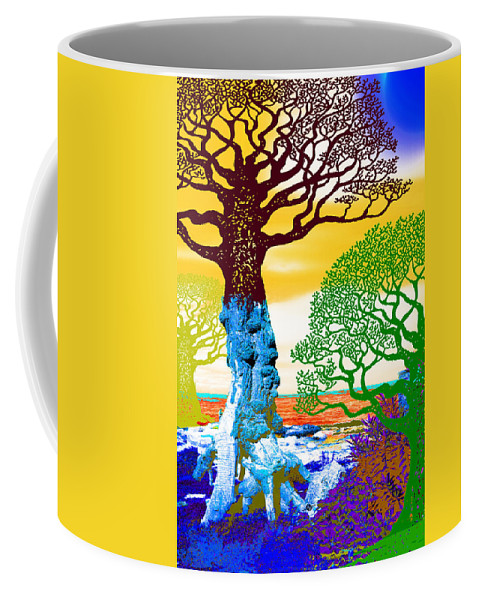 Color Coffee Mug featuring the painting If A Tree Falls In Sicily Color 2 by Tony Rubino