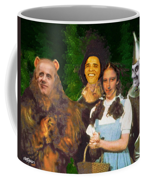 If I Only Had A Brain Coffee Mug featuring the digital art If I Only Had a Brain by Seth Weaver