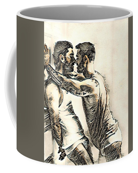 Digital Art And Mixed Media Coffee Mug featuring the digital art Ifuwnt2 by Lawrence Allen