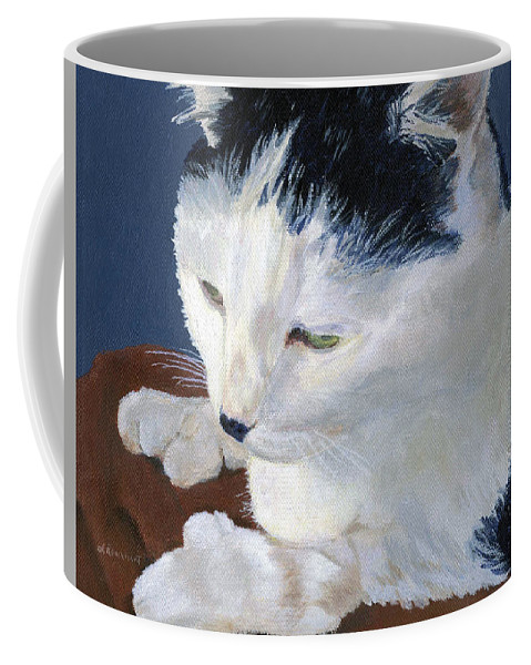 Cat Coffee Mug featuring the painting Iggy by Lynne Reichhart