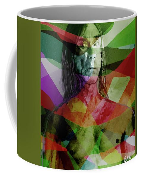 Iggy Pop Coffee Mug featuring the mixed media Iggy Not Ziggy by Enki Art