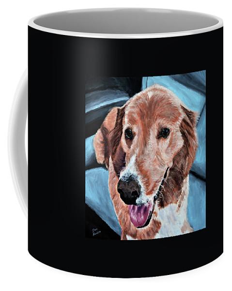Dog Portrait Coffee Mug featuring the painting Iggy by Stan Hamilton