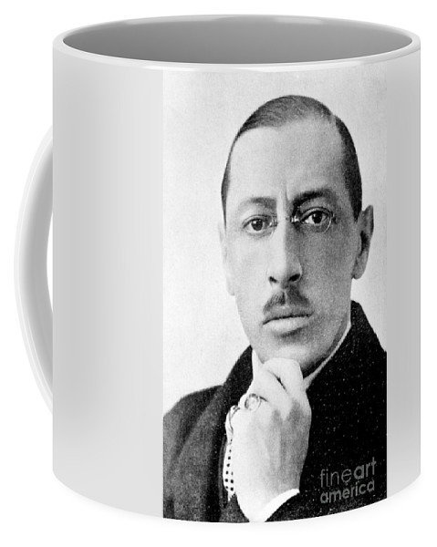 Fine Arts Coffee Mug featuring the photograph Igor Stravinsky, Russian Composer by Science Source