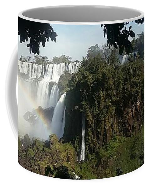 Iguazu Coffee Mug featuring the photograph Iguazu Falls Panoramic View by Silvana Miroslava Albano
